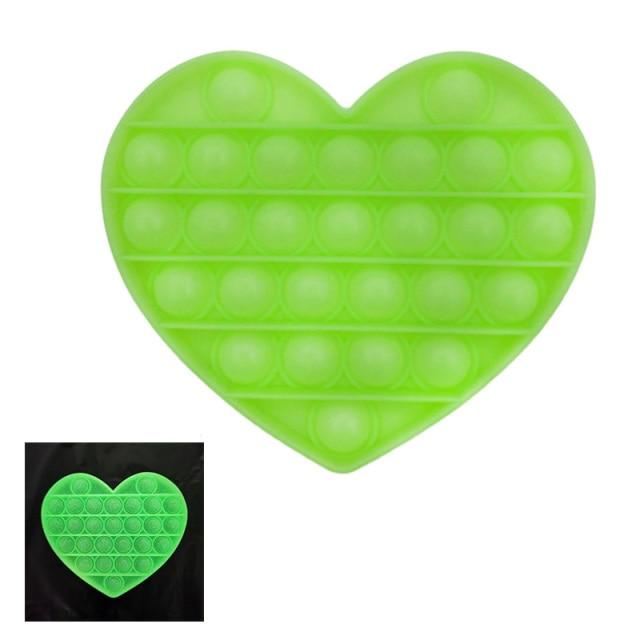 pop it glow heart shapes fidgets toys 4825 - Wacky Track