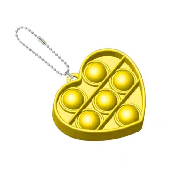 pop it heart shapes keychain fidgets toys 2645 - Wacky Track