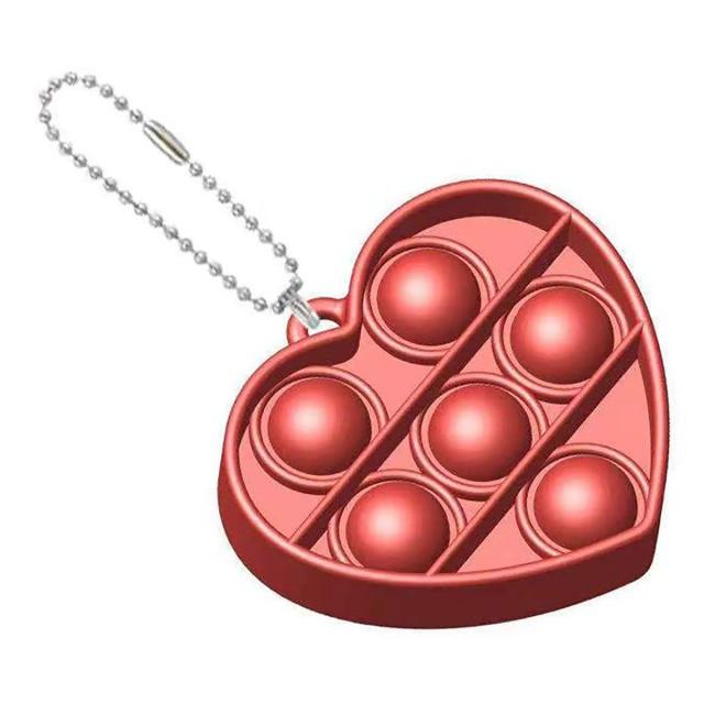 pop it heart shapes keychain fidgets toys 3260 - Wacky Track