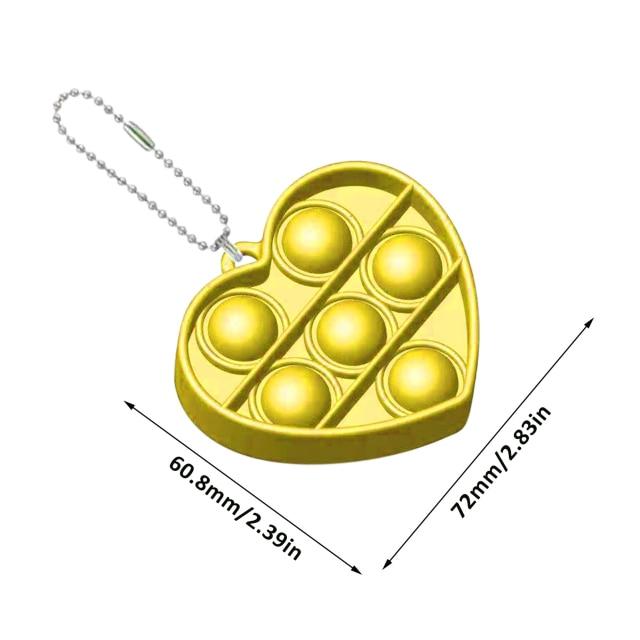 pop it heart shapes keychain fidgets toys 3905 - Wacky Track