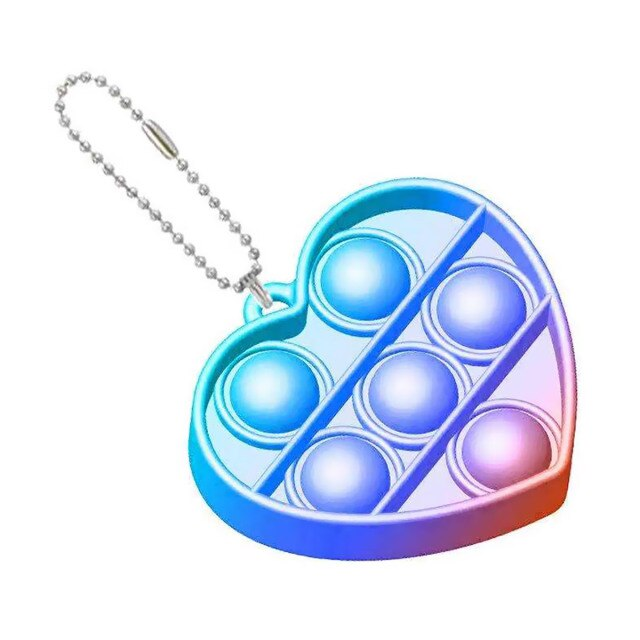 pop it heart shapes keychain fidgets toys 7942 - Wacky Track