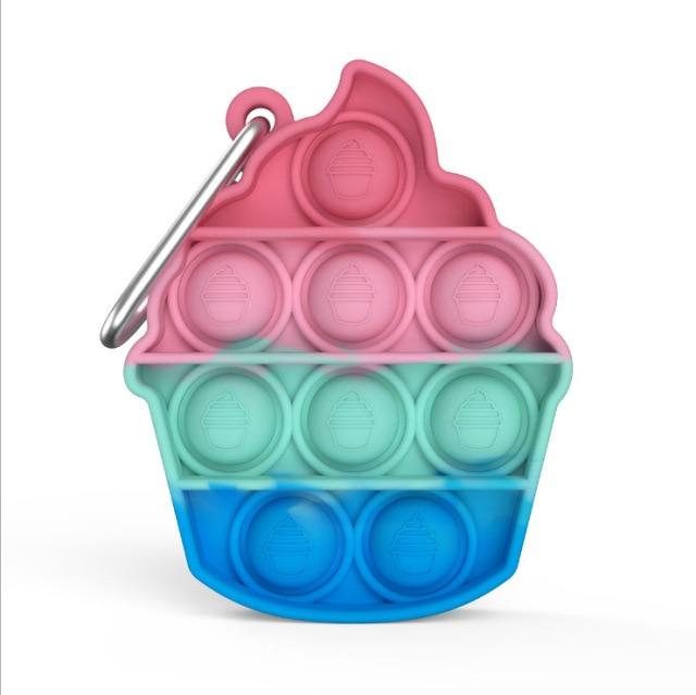pop it ice cream keychain fidget toy 7581 - Wacky Track