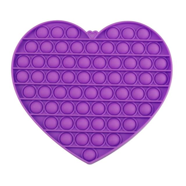 pop it jumbo heart shape fidget toys 1421 - Wacky Track