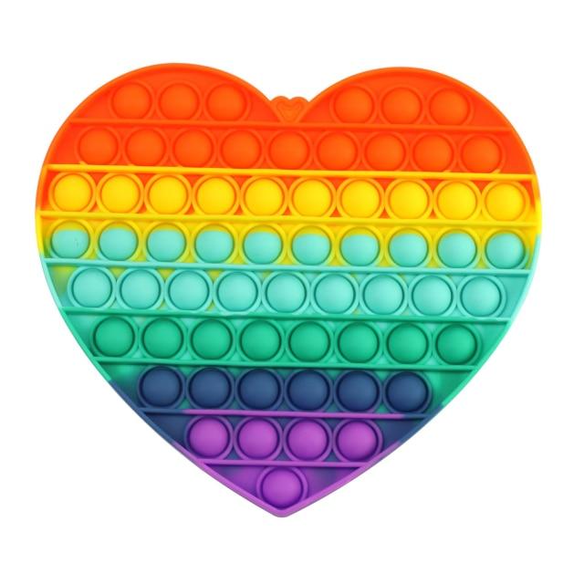 pop it jumbo heart shape fidget toys 3189 - Wacky Track