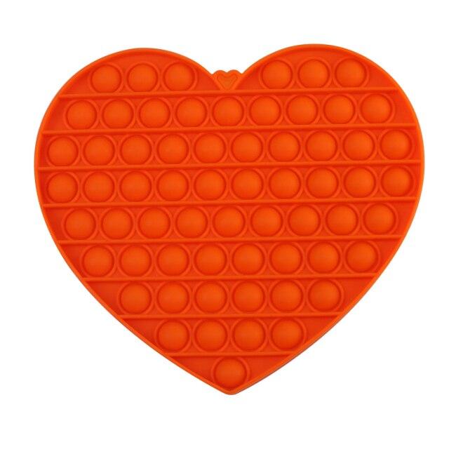 pop it jumbo heart shape fidget toys 3437 - Wacky Track