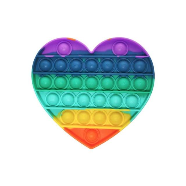 pop it jumbo heart shape fidget toys 6413 - Wacky Track