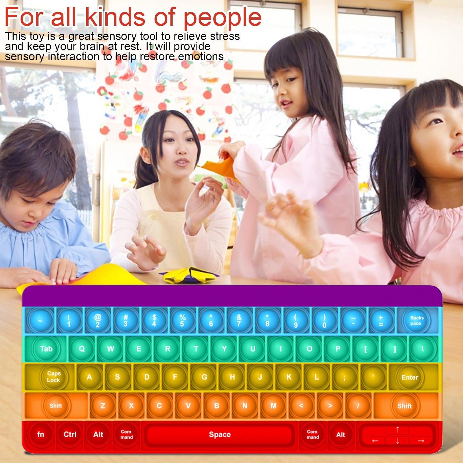 pop it key board fidget toy 8738 - Wacky Track