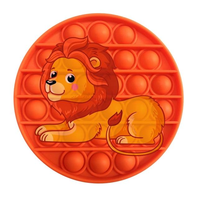 pop it lion image fidget toy 5285 - Wacky Track