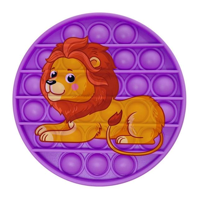 pop it lion image fidget toy 5806 - Wacky Track