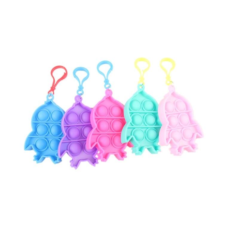 pop it penguin keychain fidget toy 8704 - Wacky Track