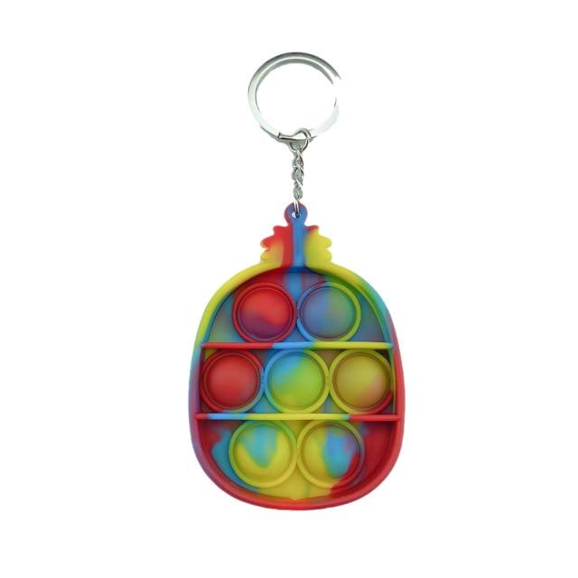 pop it pineapple keychain fidget toys 2985 - Wacky Track