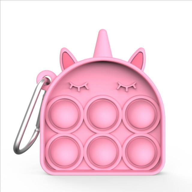 pop it pink keychain fidget toy 2147 - Wacky Track