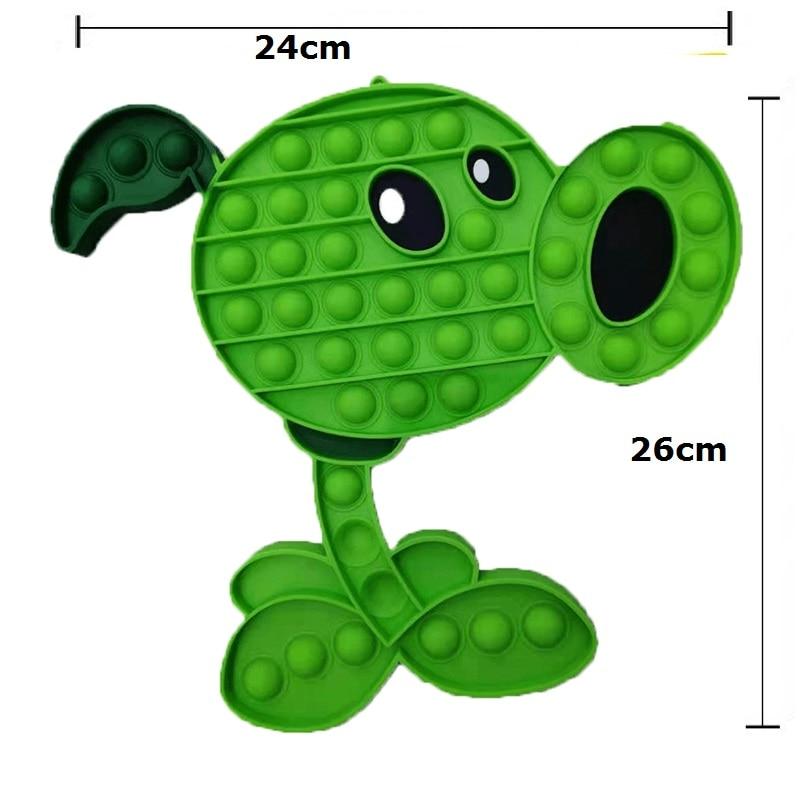 pop it plant vs zombie green bean fidget toy 2504 - Wacky Track
