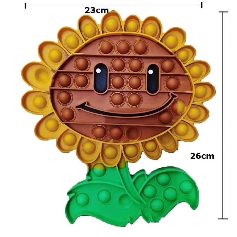 pop it plant vs zombie sunflower fidget toy 8405 - Wacky Track