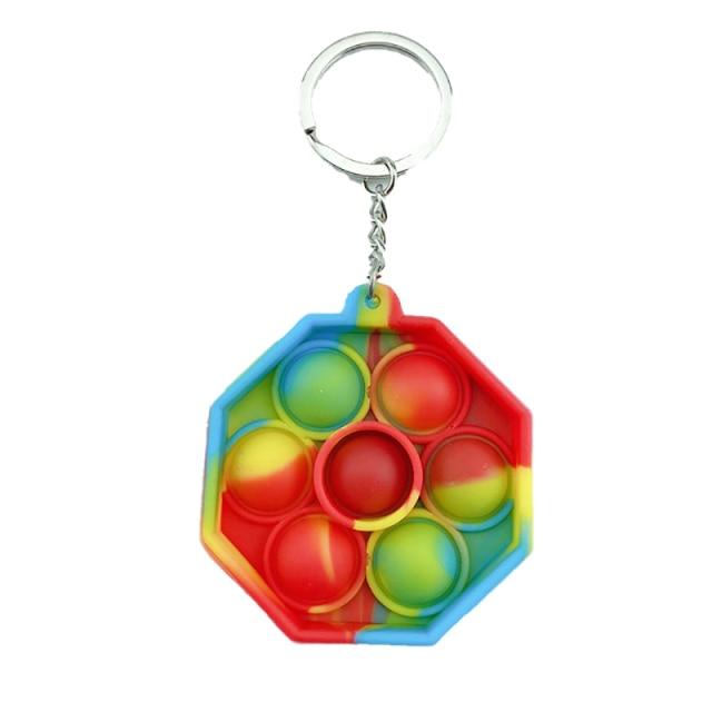 pop it polygon keychain fidget toy 6719 - Wacky Track