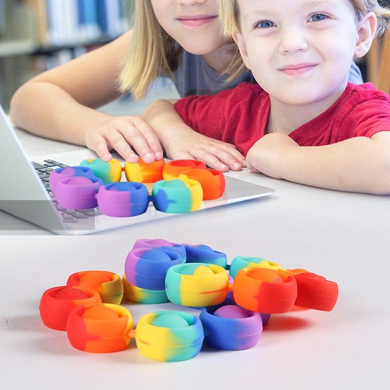 pop it rainbow bracelet fidget toy 6271 - Wacky Track