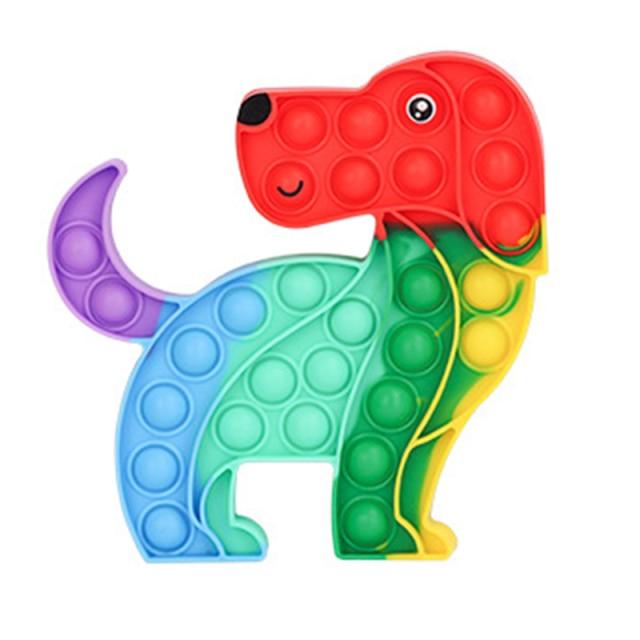 pop it rainbow dog fidget toy 2283 - Wacky Track