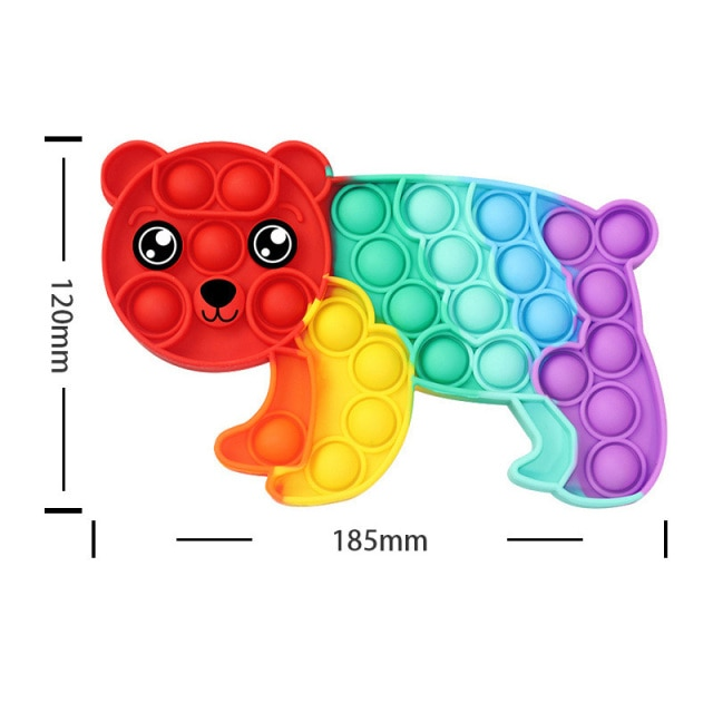 pop it rainbow panda fidget toy 8323 - Wacky Track