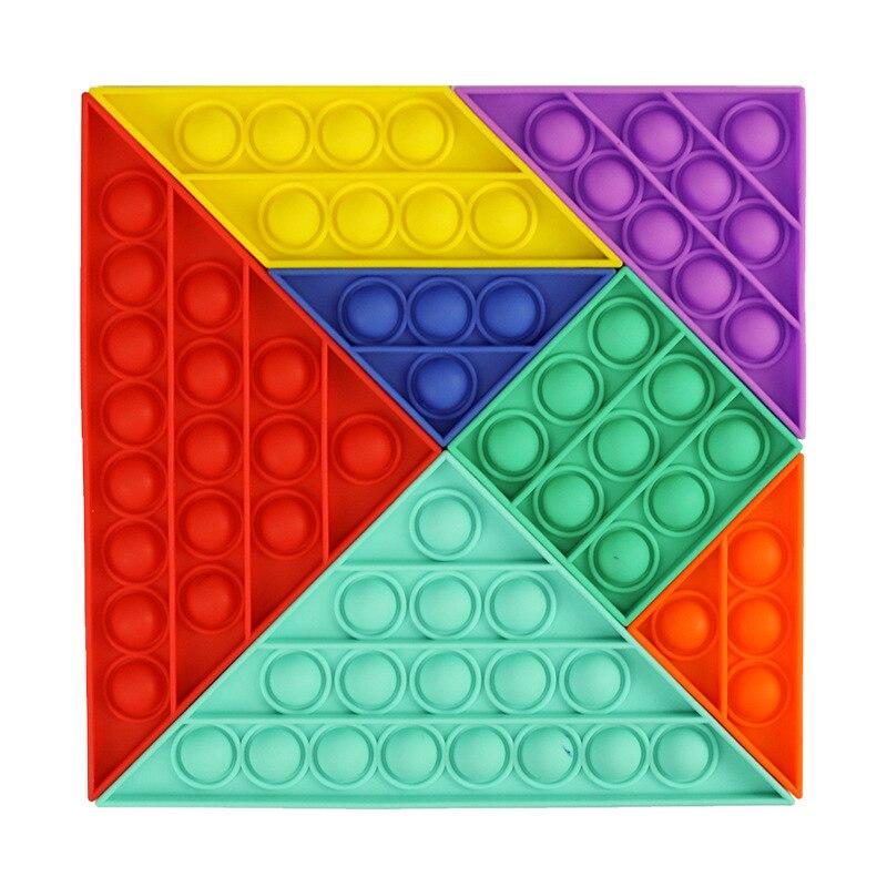 pop it rainbow square fidget toy 4209 - Wacky Track