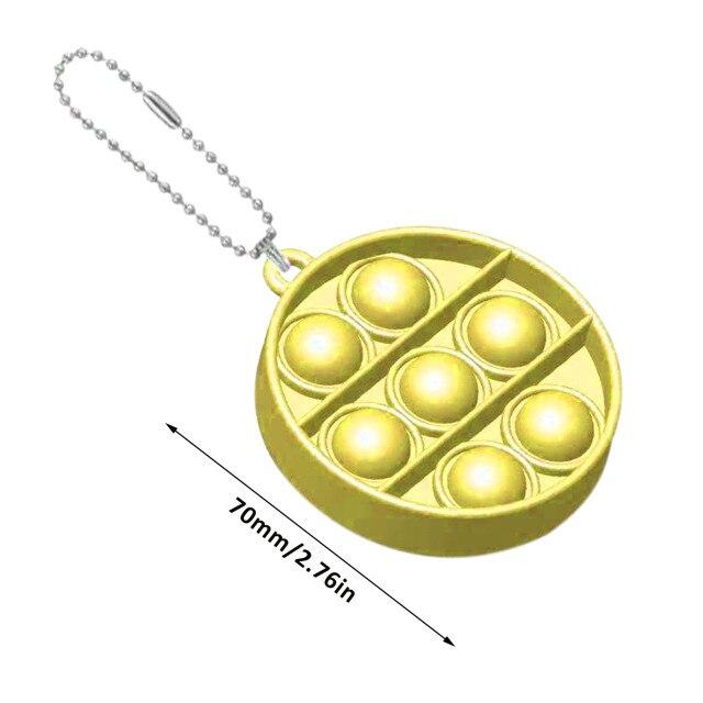 pop it round shapes keychain fidgets toys 4680 - Wacky Track