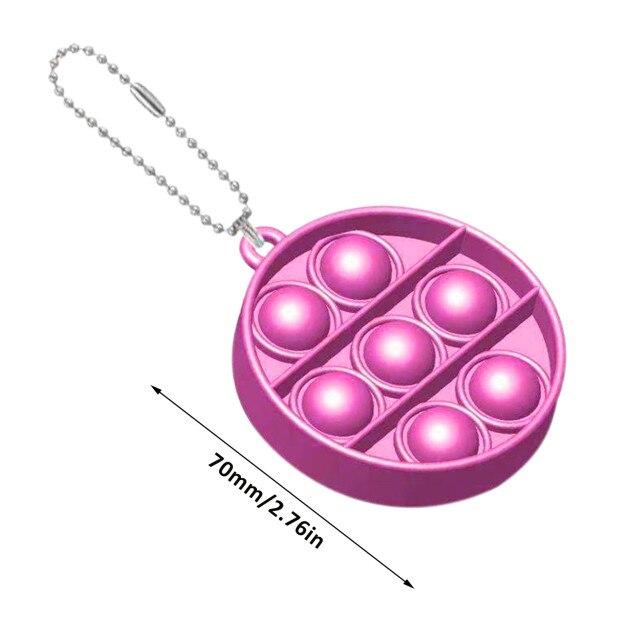 pop it round shapes keychain fidgets toys 5881 - Wacky Track
