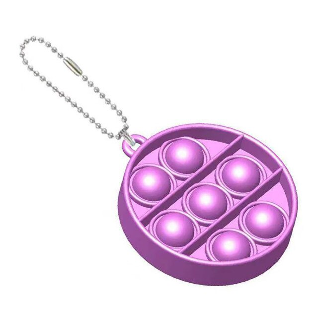 pop it round shapes keychain fidgets toys 5993 - Wacky Track