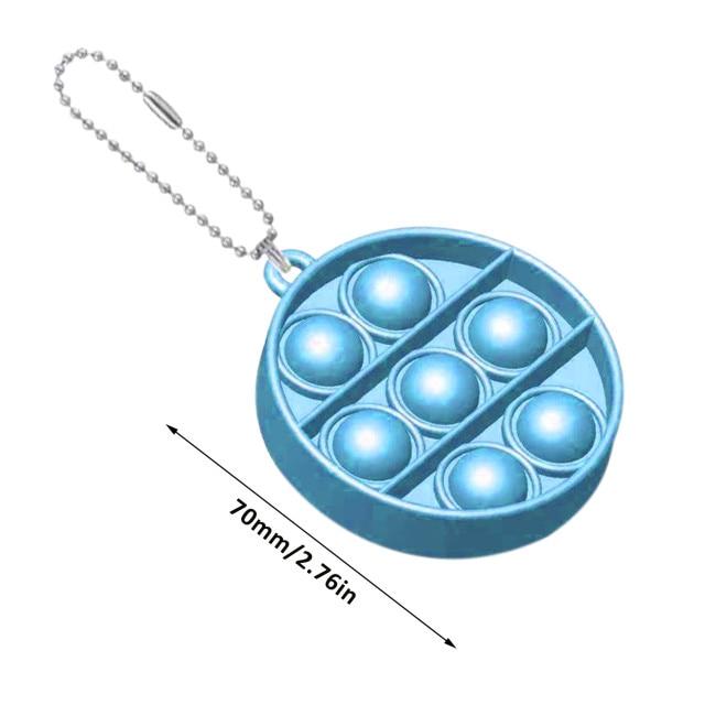 pop it round shapes keychain fidgets toys 7020 - Wacky Track