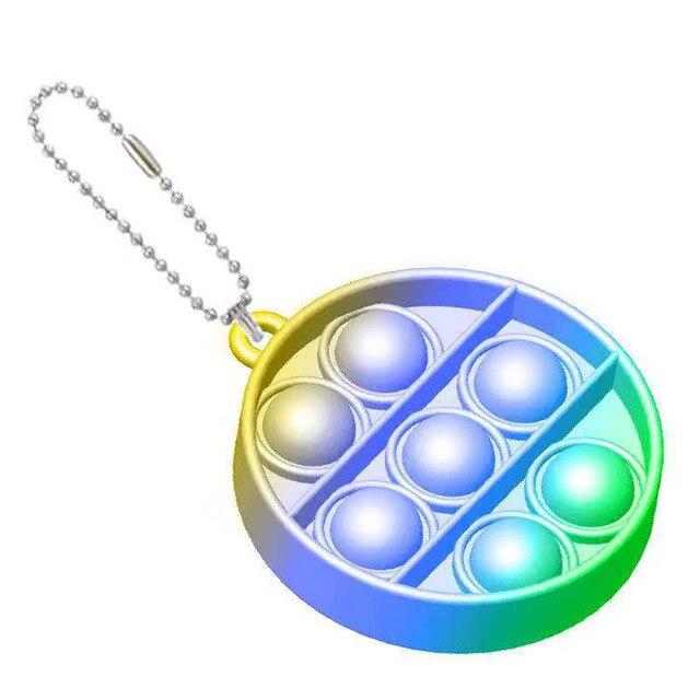 pop it round shapes keychain fidgets toys 8387 - Wacky Track