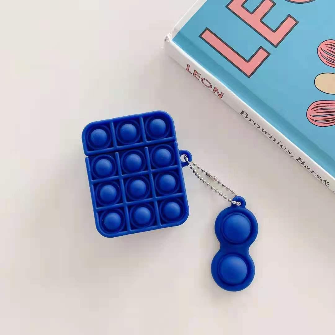 pop it silicone earpods case fidget toy 3945 - Wacky Track