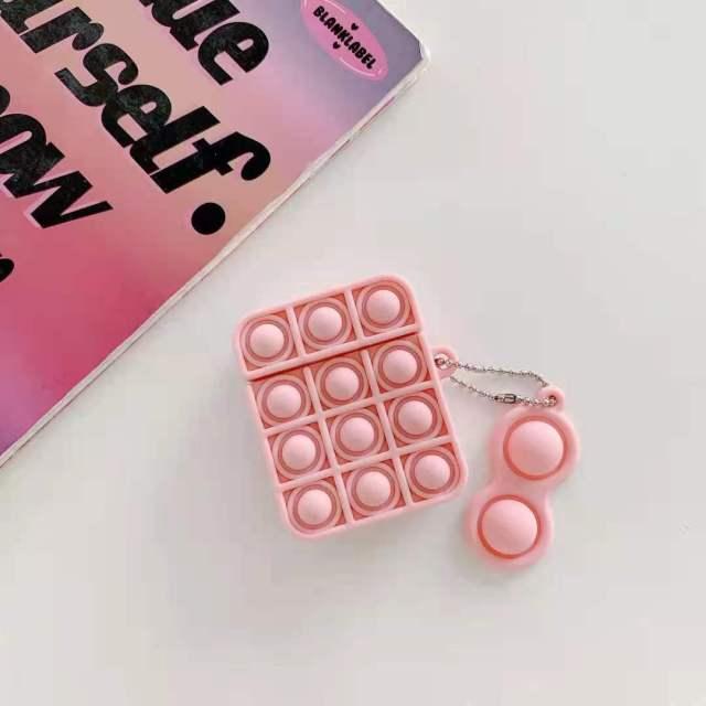 pop it silicone earpods case fidget toy 4518 - Wacky Track