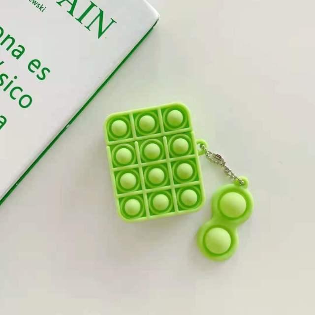 pop it silicone earpods case fidget toy 5634 - Wacky Track