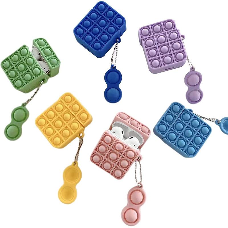 pop it silicone earpods case fidget toy 6109 - Wacky Track