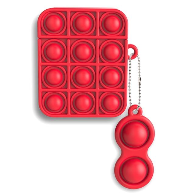 pop it silicone earpods case fidget toy 7974 - Wacky Track