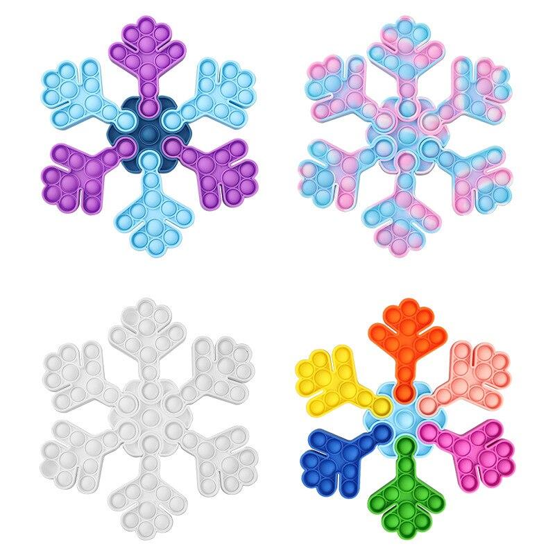 pop it snow flake fidget toy 2490 - Wacky Track