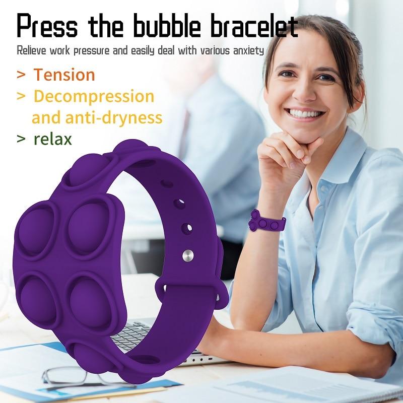 pop it square bracelet fidget toy 7931 - Wacky Track