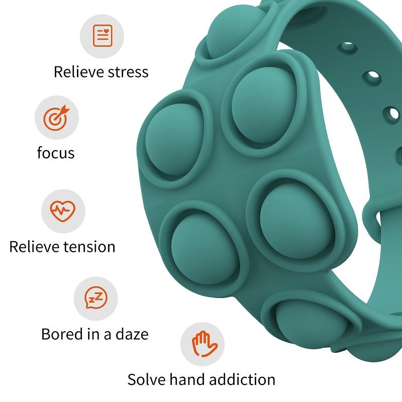 pop it square bracelet fidget toy 8520 - Wacky Track