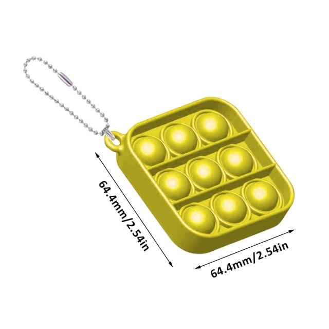 pop it square shapes keychain fidgets toys 1166 - Wacky Track