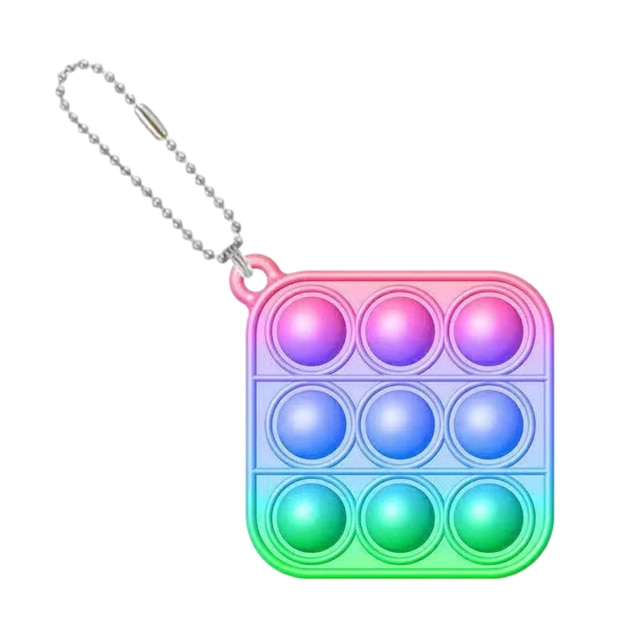 pop it square shapes keychain fidgets toys 1674 - Wacky Track