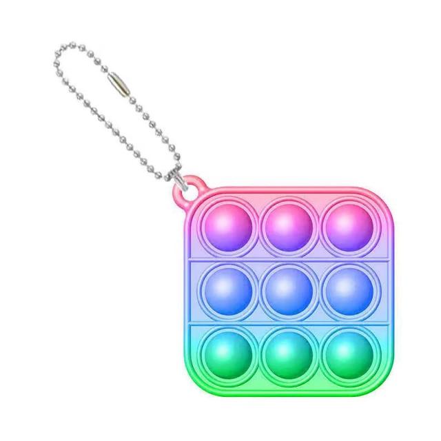 pop it square shapes keychain fidgets toys 5026 - Wacky Track