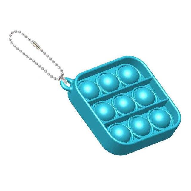 pop it square shapes keychain fidgets toys 6072 - Wacky Track