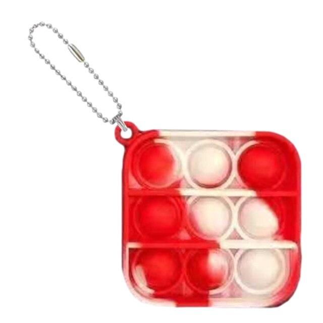 pop it square shapes keychain fidgets toys 8112 - Wacky Track