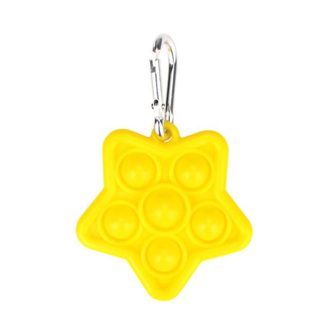 pop it star keychain fidget toys 2775 - Wacky Track