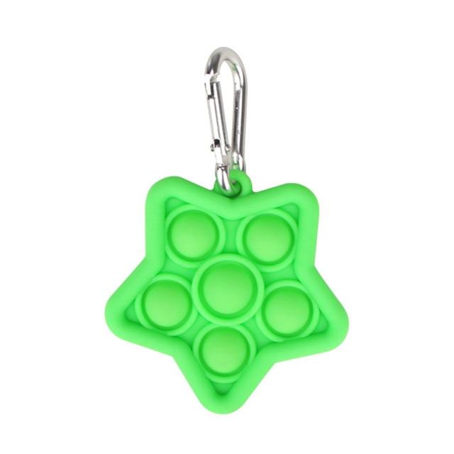 pop it star keychain fidget toys 4457 - Wacky Track