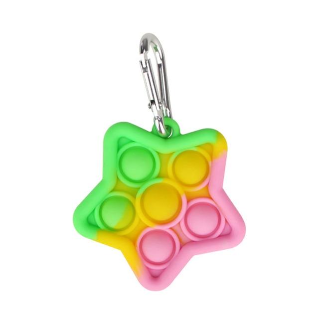 pop it star keychain fidget toys 8483 - Wacky Track