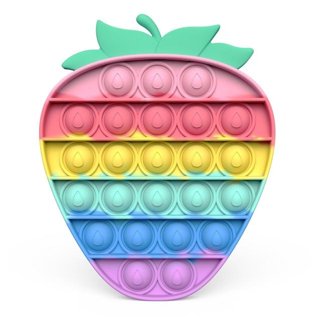 pop it strawberry popping fidget toys 2840 - Wacky Track