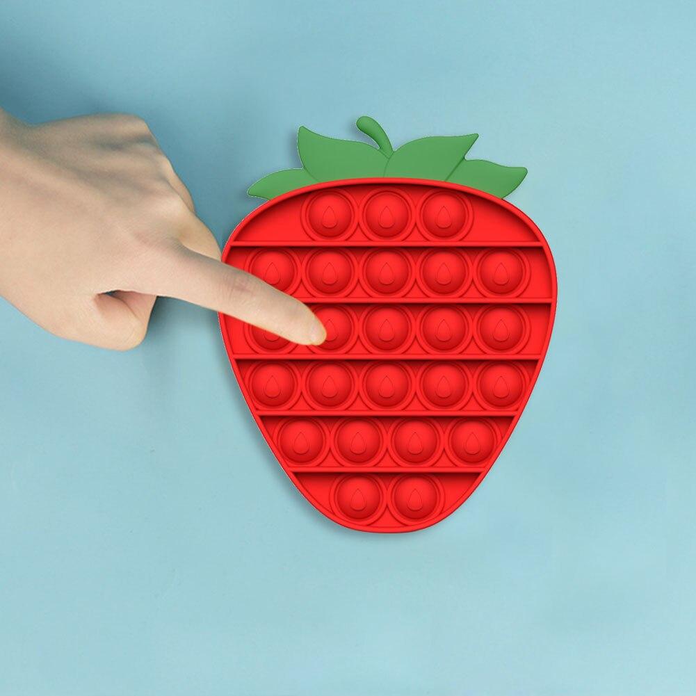 pop it strawberry popping fidget toys 4094 - Wacky Track