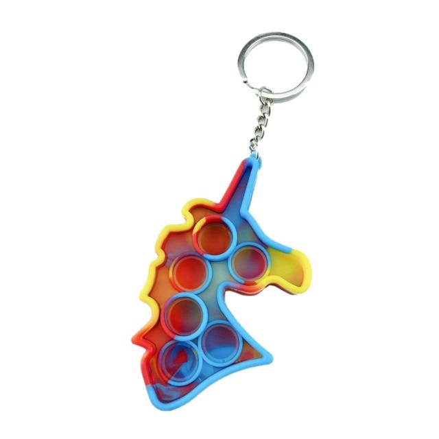 pop it unicorn keychain pop it fidget toys 6412 - Wacky Track
