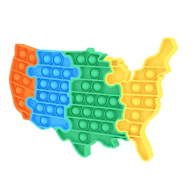 pop it usa map shape fidget toy 1263 - Wacky Track