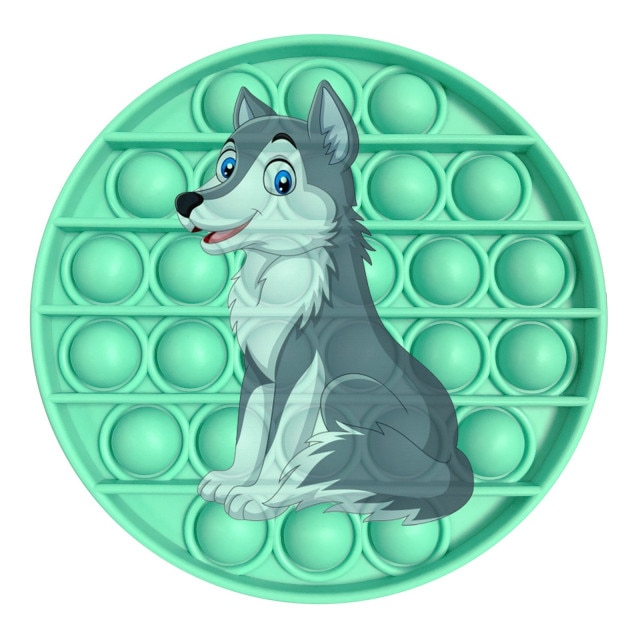 pop it wolf image fidget toy 1036 - Wacky Track