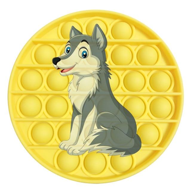 pop it wolf image fidget toy 2153 - Wacky Track